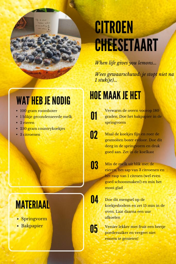 Recept citroen cheesetaart 1 683x1024 - Citroen cheesetaart | when life gives you lemons